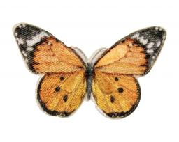 Applikation Schmetterling Gelb schwarz