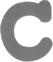 Applikation Reflex Buchstabe C
