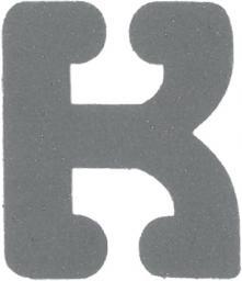 Applikation Reflex Buchstabe K