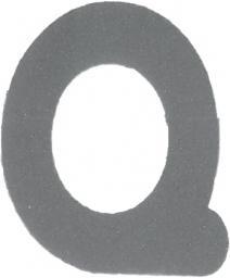 Applikation Reflex Buchstabe Q