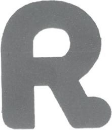 Applikation Reflex Buchstabe R