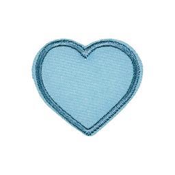 Applikation blaues Herz