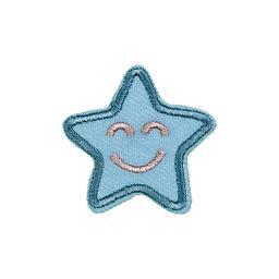 Applikation blauer Stern