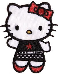Applikation Hello Kitty mit Kleid schwarz