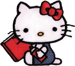 Applikation Hello Kitty mit Buch