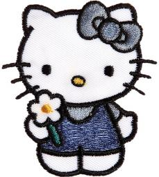 Applikation Hello Kitty mit Kleid blau