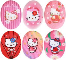 Bedruckte Patches Sort. 6x1 Hello Kitty pink