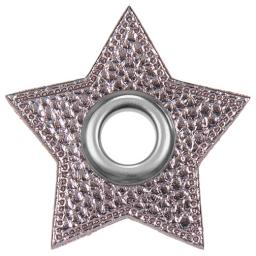 Ösen Patches für Kordeln Stern Lederimitat