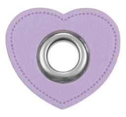 Eyelet-Patches for cords heart imitation leather