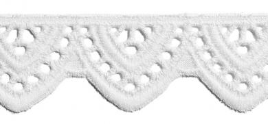 Scalloped Lace 24Mm 100%Co