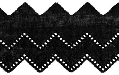 Festonspitze 50mm schwarz