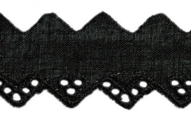 Scalloped Lace 20Mm Black 100%Co