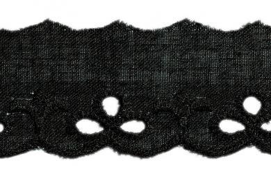 Festonspitze 25mm schwarz