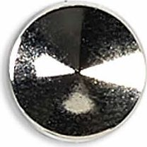 Großhandel Ziernieten 10mm silber Kegel flach