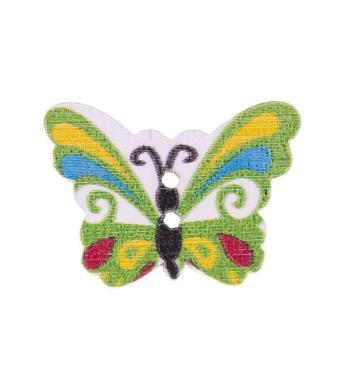Großhandel Knopf 2-Loch Holz Schmetterling