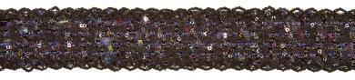 Chanelborte mit Pailletten 30mm