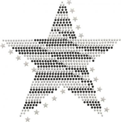 Applikation Plättchen Stern