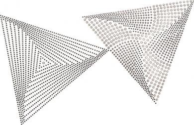Applikation Plättchen 3D Dreiecke
