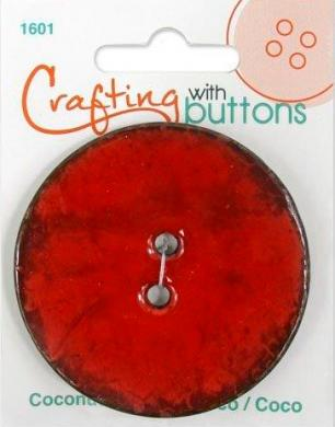 Großhandel Crafting with buttons COCONUT RED