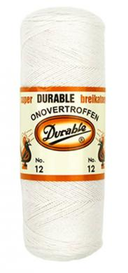 Durable Crochet Yarn 12 100g white
