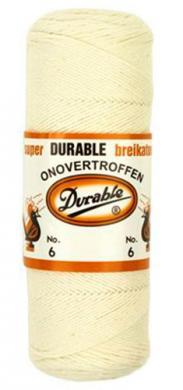 Durable Crochet Yarn 6 100g natural