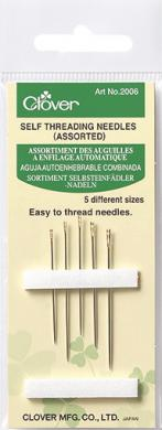 Wholesale Self-Threading Needles Steel Silver Sort