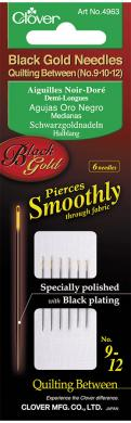 Quilt Needle No.9/10/12 Black Gold Pin 6Pcs.