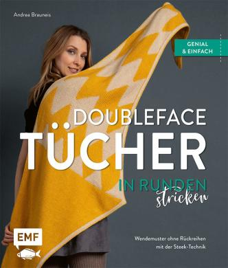 Doubleface-Tücher in Runden stricken
