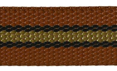 Gurtband 30mm rost/schwarz/hellbraun
