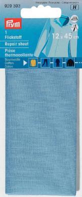 Großhandel Flickstoff CO 12x45cm aufbügelbar blau