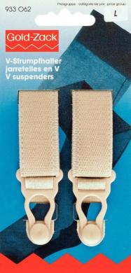 Großhandel V-Strumpfhalter Veloursband KST 20 mm haut