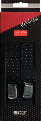 Großhandel Hosenträger Exclusiv 120 cm 35 mm Punkte marine/weiß