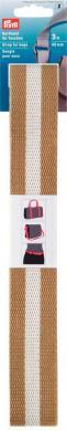 Gurtband für Taschen 40 mm beige / weiß