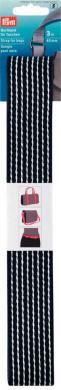 Großhandel Gurtband für Taschen 40 mm blau / weiß gestreift