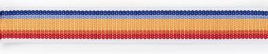 Gurtband für Taschen 40 mm weiß/mehrfarbig