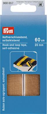 Haftverschlussband selbstkl. 20 mm beige