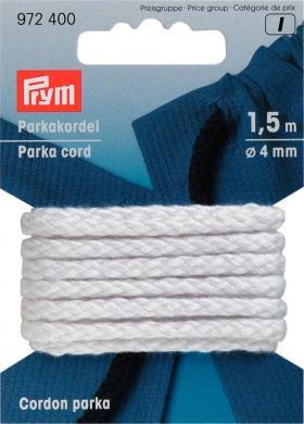 Wholesale Parka Cord 4mm white                1,5m
