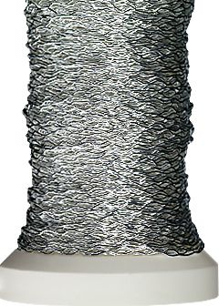 Decorative elastic wire Ø 0,2 mm 60 m silver-plated