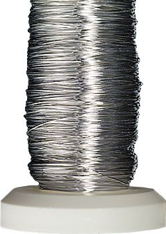 Silver-plated wire Ø 0,25 mm 50 m silver-plated