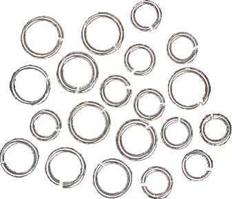 Wholesale Rings Ø 5 u. 6,5 mm silver-coloured 2 x 10 pcs.