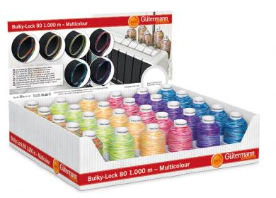 Wholesale Display Bulky Lock Multicolor 30 rolls