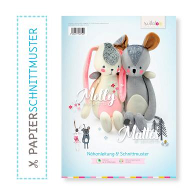 "Wholesale Kullaloo Booklet Kuschelfiguren Hase ""Melly"" & Maus ""Mattes"""