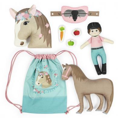 "Kullaloo Cut&Sew Panel ""Horse Love"" Baumwolle"