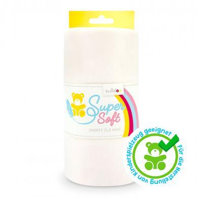 Großhandel Kullaloo Plüschstoff Shorty uni 1,5mm weiß