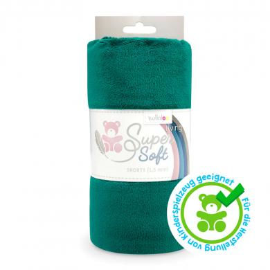 Großhandel Kullaloo Plüschstoff Shorty uni 1,5mm smaragdgrün