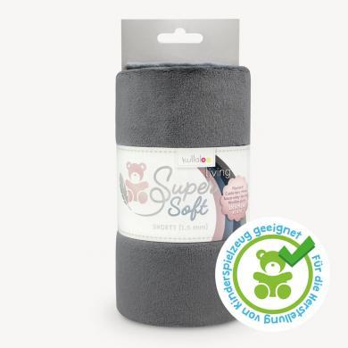 Großhandel Kullaloo Plüschstoff Shorty uni 1,5mm aschgrau