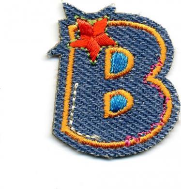 Applikation Fun Letter Jeans B