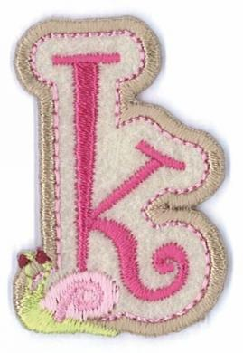 Applikation Fun Letter 'Girls just wanna have' K
