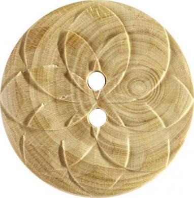 Großhandel Knopf 2-Loch Holz 25mm