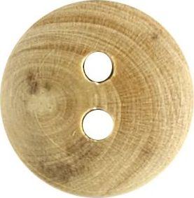 Großhandel Knopf 2-Loch Holz 13mm